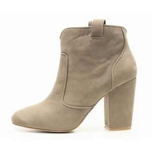 French Connection Taupe Libby Heeled Bootie Sz 7.5